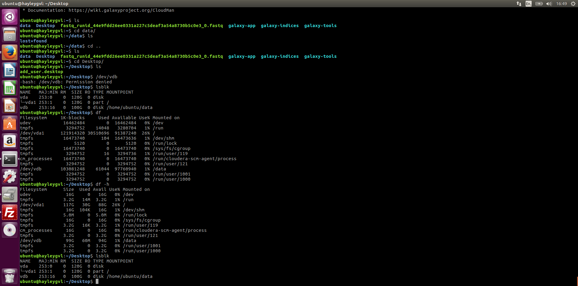 Getting data files into GVL to use in command line - CLIMB